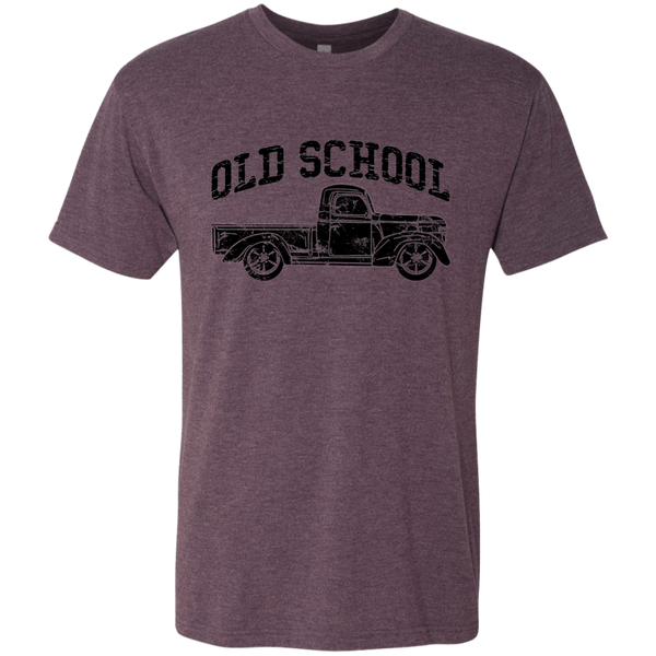 Old School Vintage Distressed Antique Truck Tee Shirt Purple