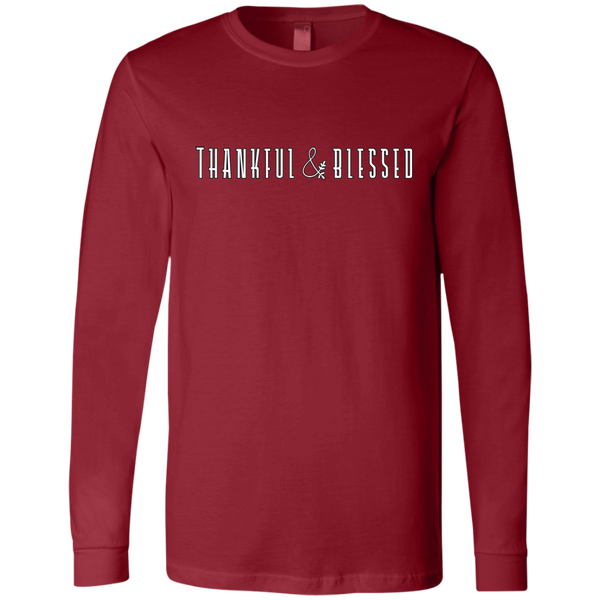 Thankful and Blessed Soft Long Sleeved Tee Red