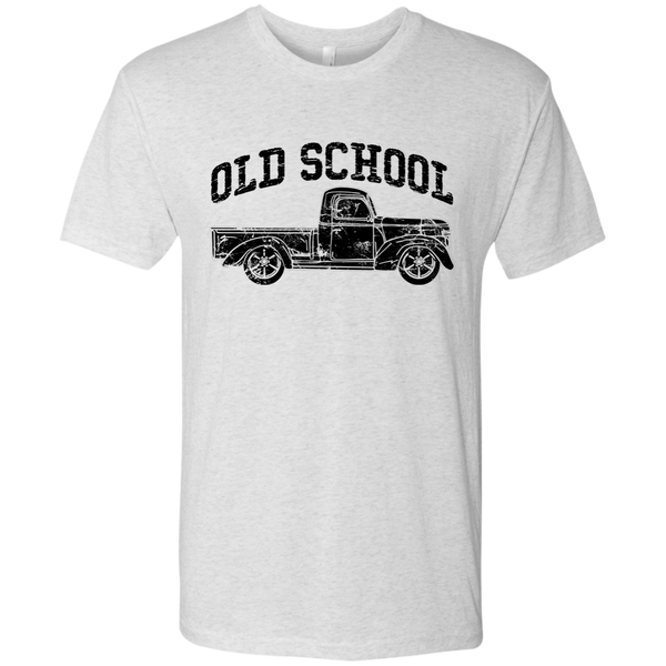 Old School Vintage Distressed Antique Truck Tee Shirt Heather White