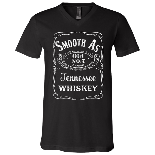 Smooth as Tennessee Whiskey Soft V-Neck Tee Shirt Black