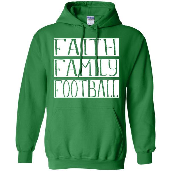 Faith Family Football Hoodie Sweatshirt Green