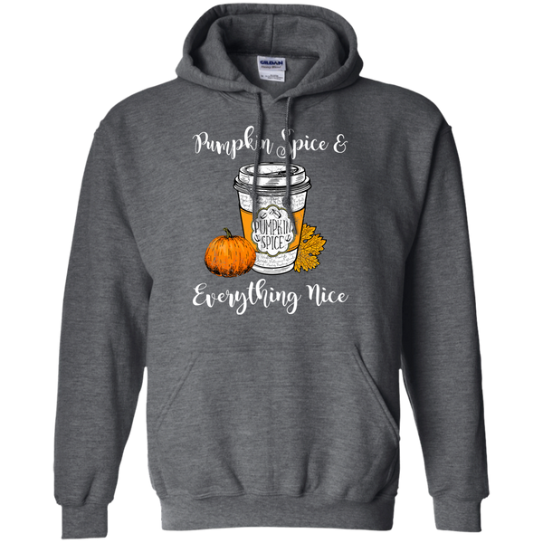 Pumpkin Spice and Everything Nice Hoodie Sweatshirt Dark Grey