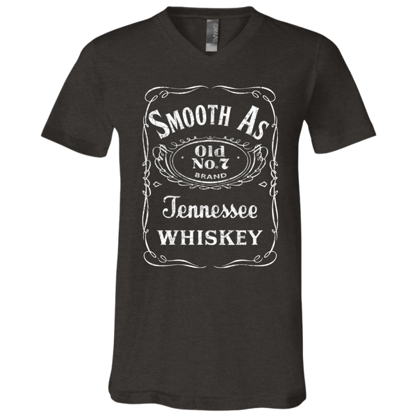 Smooth as Tennessee Whiskey Soft V-Neck Tee Shirt Dark Grey