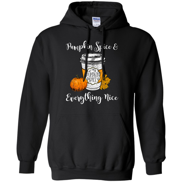 Pumpkin Spice and Everything Nice Hoodie Sweatshirt Black
