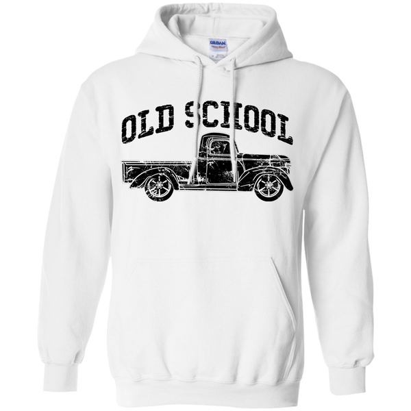 Old School Vintage Distressed Antique Truck Hoodie White