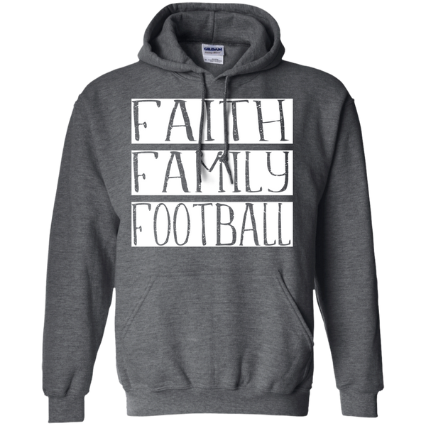 Faith Family Football Hoodie Sweatshirt Dark Grey
