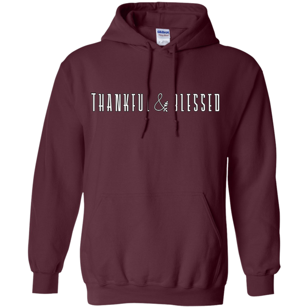 Thankful and Blessed Hoodie Sweatshirt Maroon