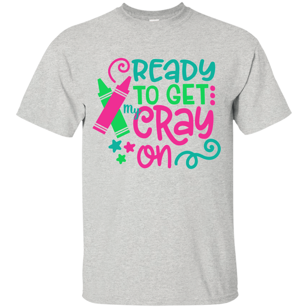 Ready to Get My Cray On Tee Shirt Kids Grey