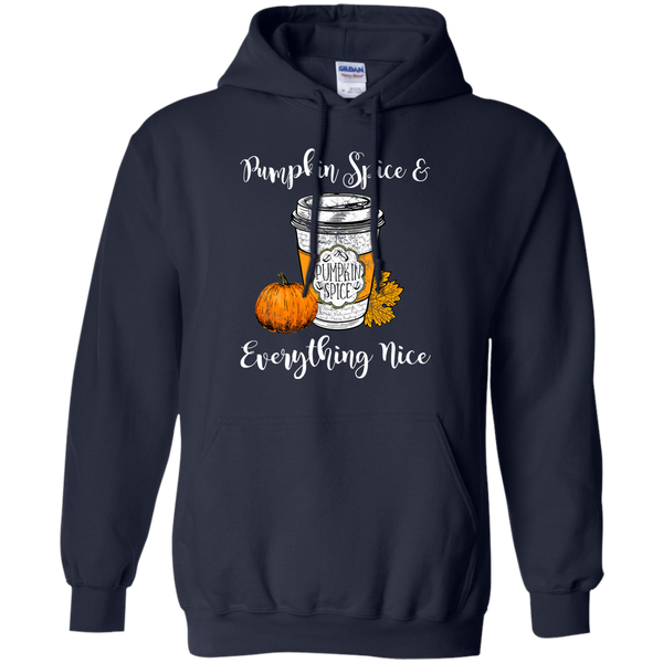 Pumpkin Spice and Everything Nice Hoodie Sweatshirt Navy