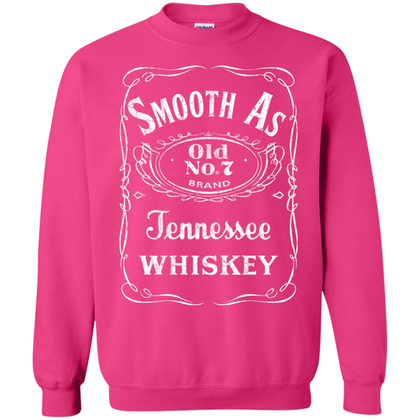 Smooth as Tennessee Whiskey Crewneck Sweatshirt Pink