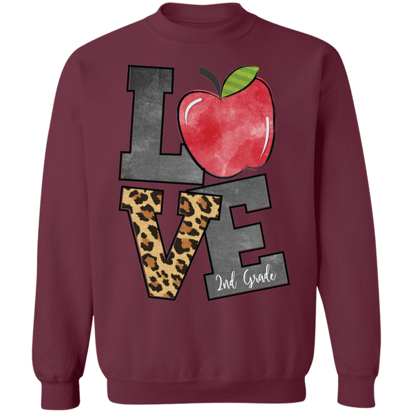 Teacher Love 2nd Grade Sweatshirt