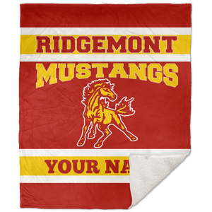 Ridgemont Mustangs 50x60 Premium School Spirit Blanket