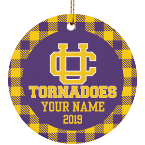 Union City Tornadoes Personalized Buffalo Ornament