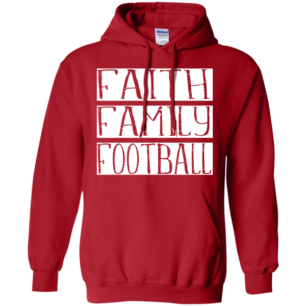 Faith Family Football Hoodie Sweatshirt Red