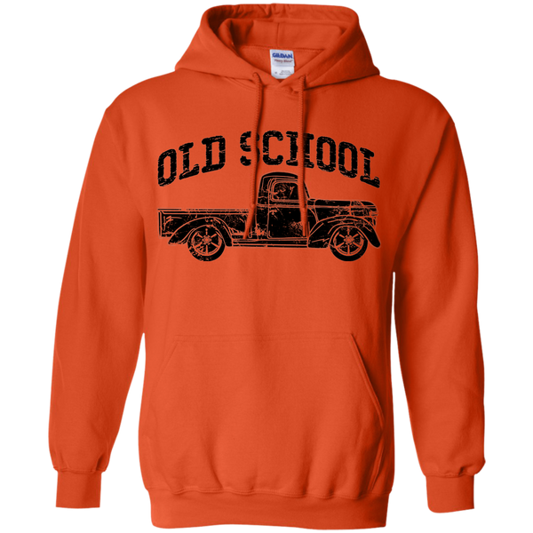 Old School Vintage Distressed Antique Truck Hoodie Orange