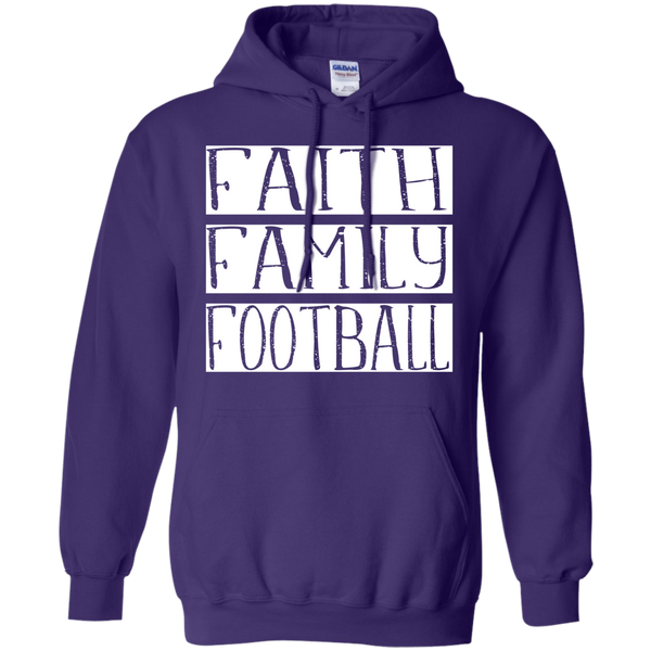 Faith Family Football Hoodie Sweatshirt Purple