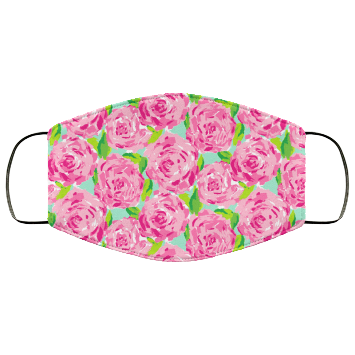 Lilly Pulitzer Inspired Pink Floral Face Mask