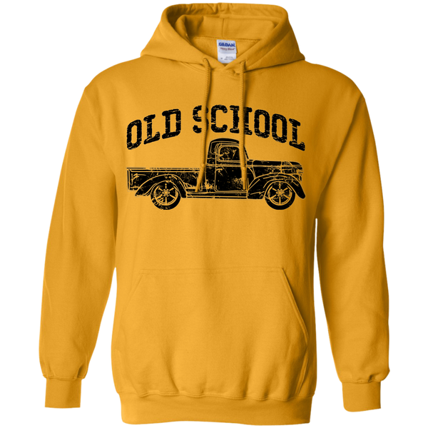 Old School Vintage Distressed Antique Truck Hoodie Gold