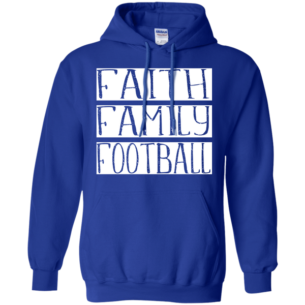 Faith Family Football Hoodie Sweatshirt Blue