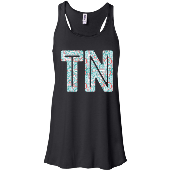 Paisley Tennessee Flowy Racerback Tank Top Black