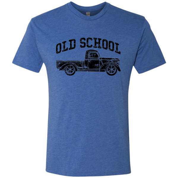 Old School Vintage Distressed Antique Truck Tee Shirt Blue