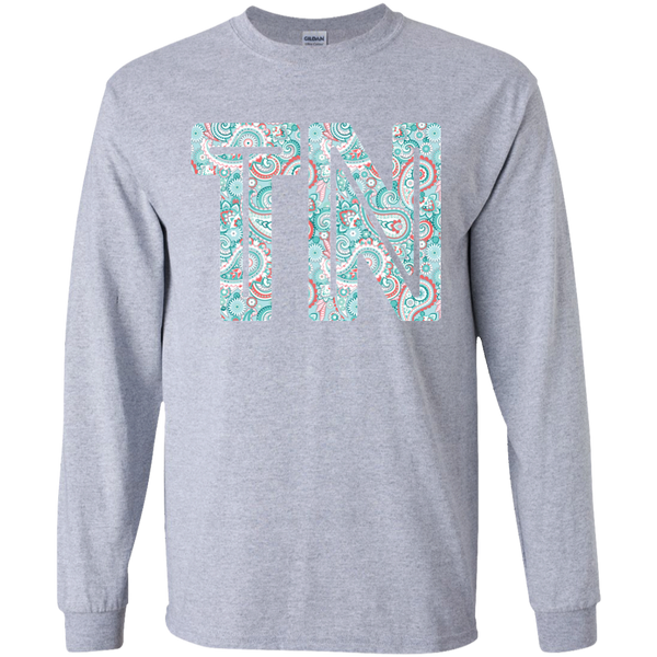 Paisley Tennessee Long Sleeve Tee Sport Grey
