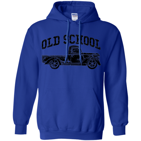 Old School Vintage Distressed Antique Truck Hoodie Blue
