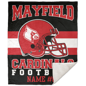 Mayfield Cardinals Premium 50x60 School Spirit Blanket