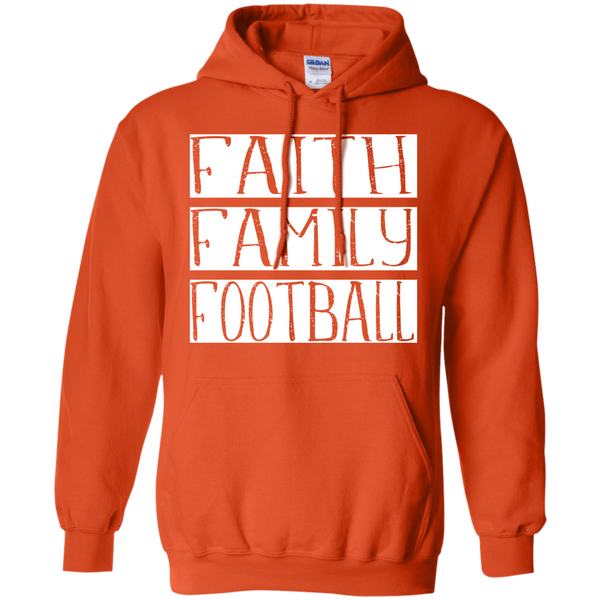 Faith Family Football Hoodie Sweatshirt Orange