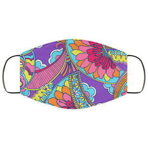 Lilly Pulitzer Inspired Paisley Floral Face Mask