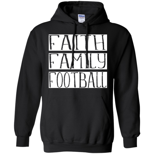 Faith Family Football Hoodie Sweatshirt Black