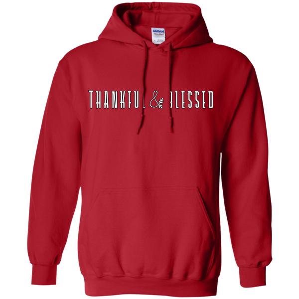 Thankful and Blessed Hoodie Sweatshirt Red