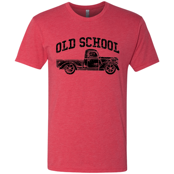 Old School Vintage Distressed Antique Truck Tee Shirt Red