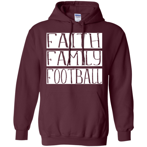 Faith Family Football Hoodie Sweatshirt Maroon