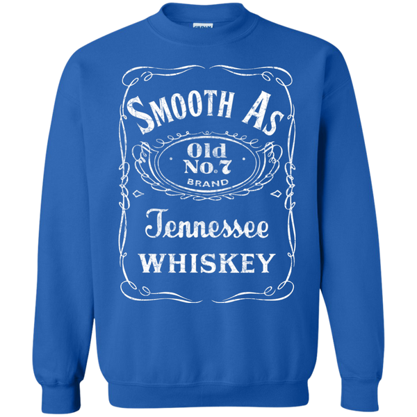 Smooth as Tennessee Whiskey Crewneck Sweatshirt Blue