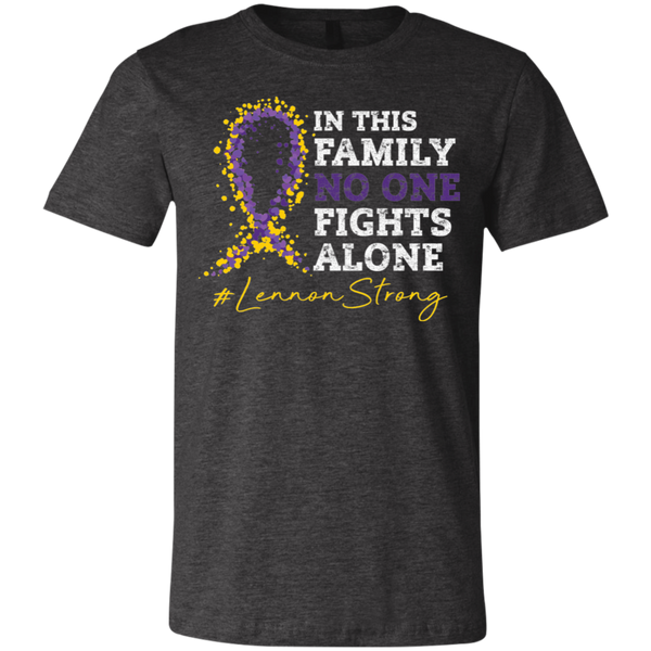 In This Family No One Fights Alone Bella Youth Tee