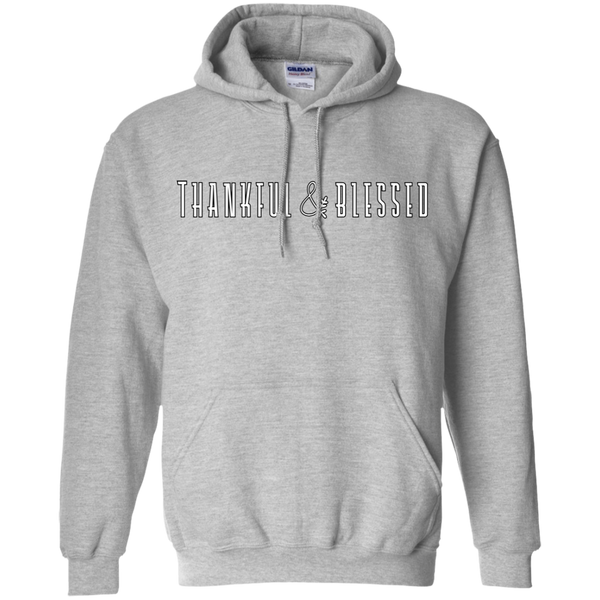 Thankful and Blessed Hoodie Sweatshirt Sport Grey