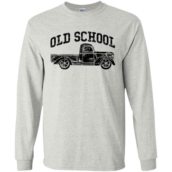 Old School Vintage Distressed Antique Truck Long Sleeve Tee Sport Sport Grey
