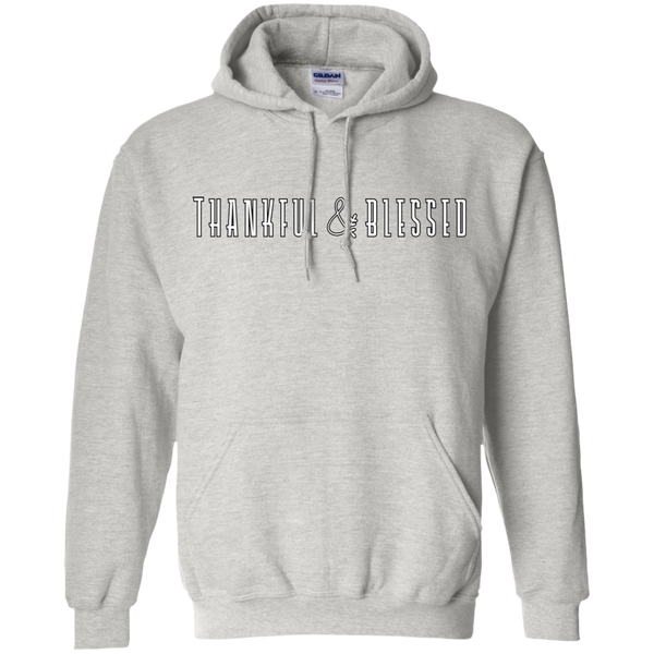 Thankful and Blessed Hoodie Sweatshirt Ash Grey