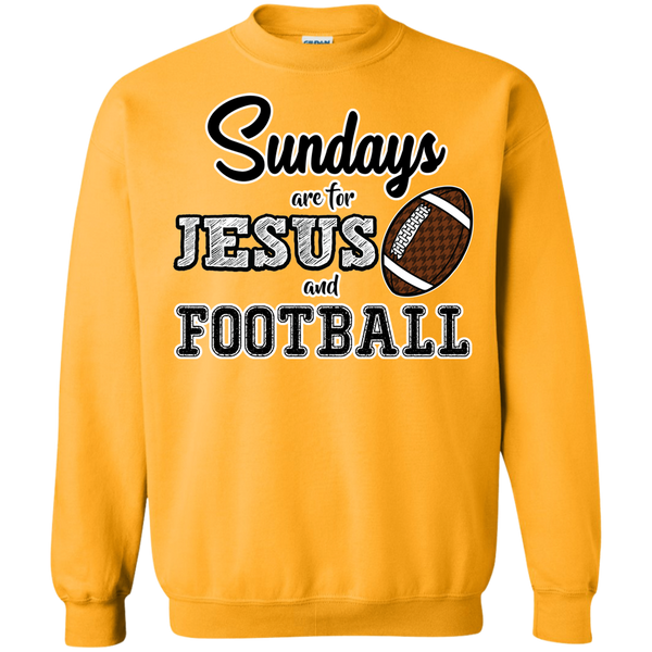 Sundays are for Jesus and Football Crewneck Sweatshirt Gold