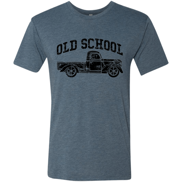 Old School Vintage Distressed Antique Truck Tee Shirt Indigo