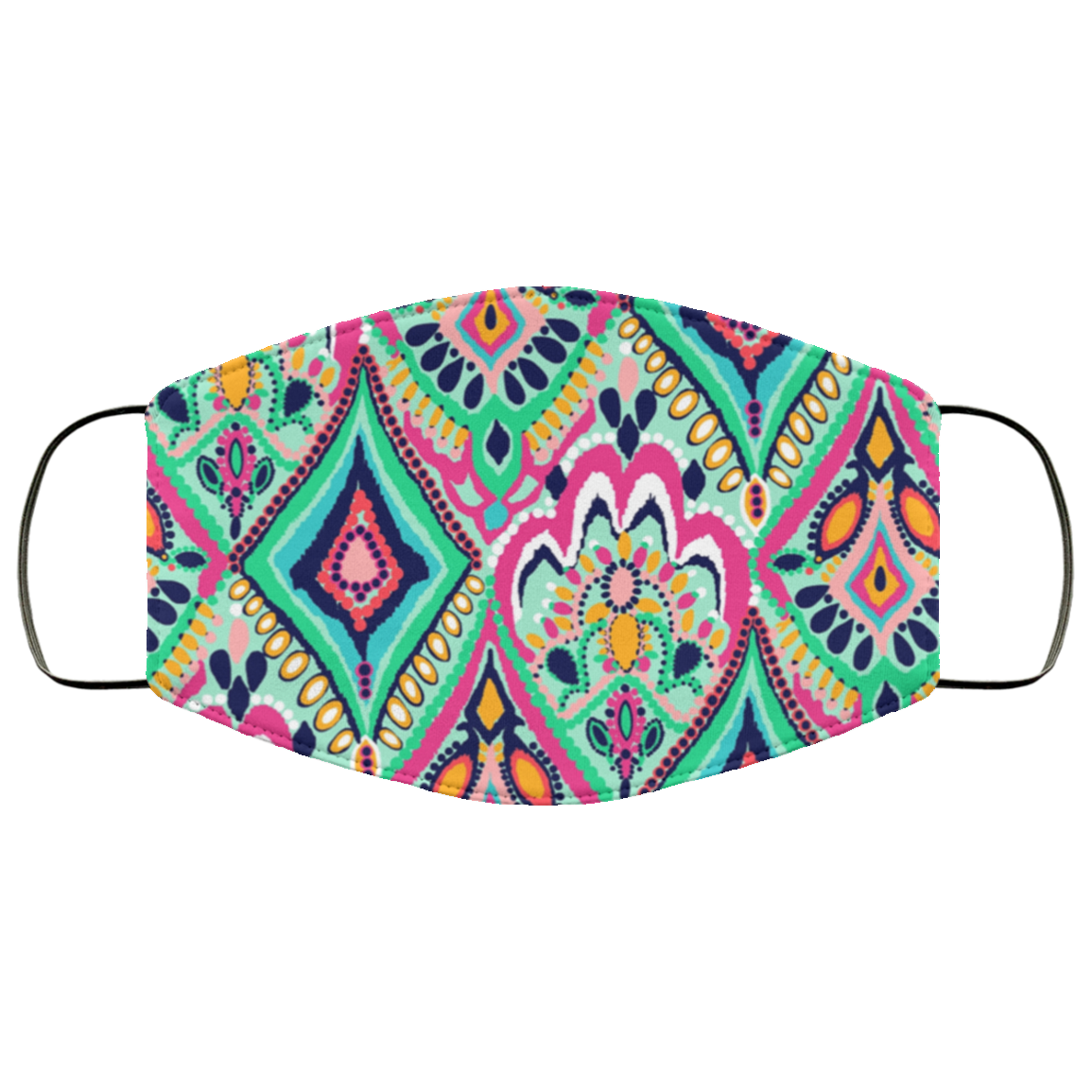 Lilly Pulitzer Inspired Paisley Face Mask