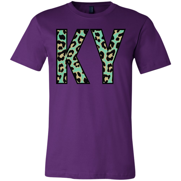 KY Teal Leopard Kentucky Soft Tee