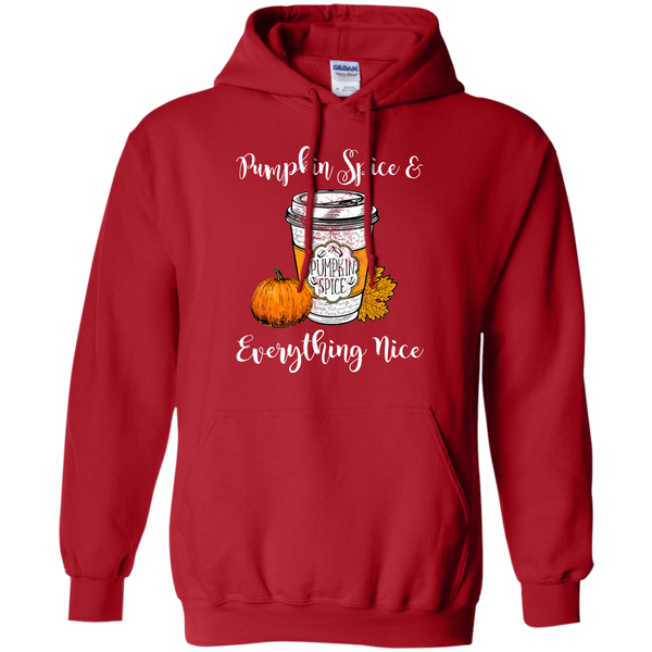 Pumpkin Spice and Everything Nice Hoodie Sweatshirt Red
