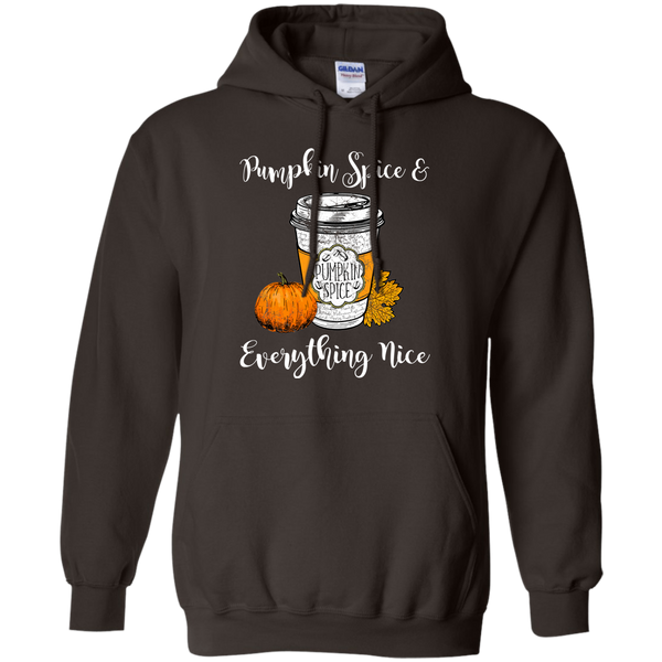 Pumpkin Spice and Everything Nice Hoodie Sweatshirt Brown