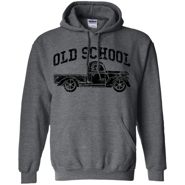 Old School Vintage Distressed Antique Truck Hoodie Dark Grey