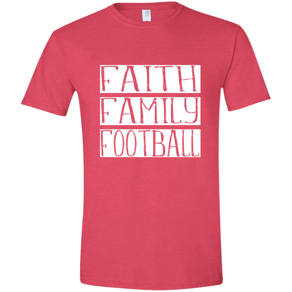 Faith Family Football Soft Tee Shirt Pink