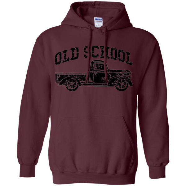 Old School Vintage Distressed Antique Truck Hoodie Maroon