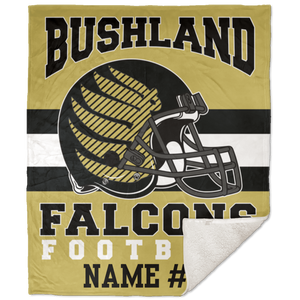 Bushland Falcons Football Premium 50x60 Sherpa Blanket