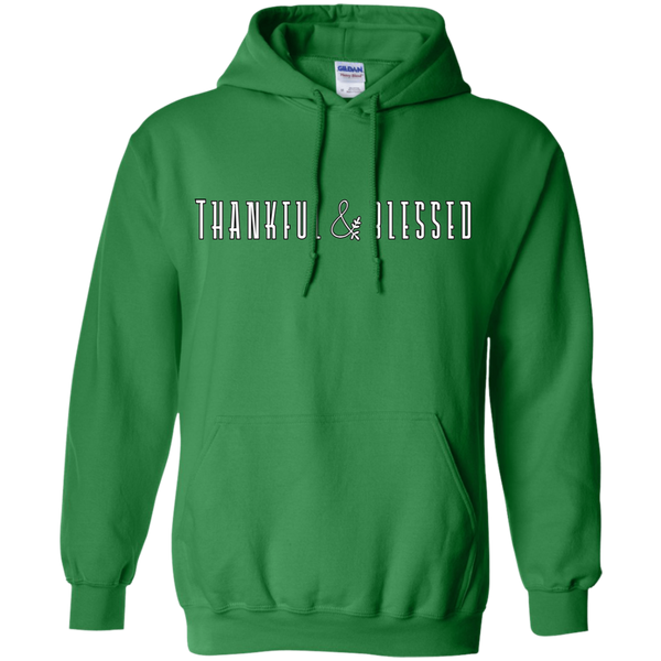 Thankful and Blessed Hoodie Sweatshirt Green
